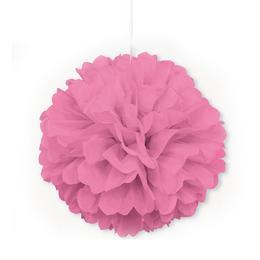 Závesná dekorácia - huňatá, ružová, 41 cm