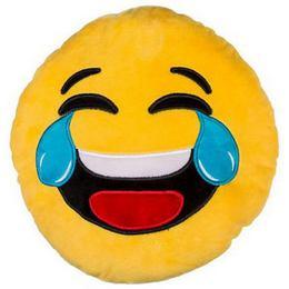 Plyšový vankúšik Emoji - smejúci sa Smile, 45 cm