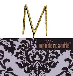 Zlatá prskavka v tvare písmena - M