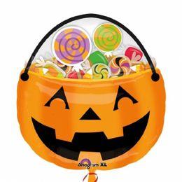 23 inch Halloween Treat pail - Tekvicové vedro fóliový balón