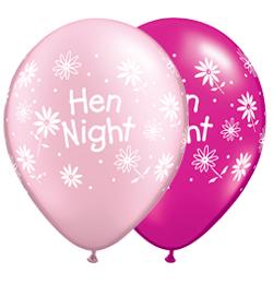 11 inch Hen Night Daisies kvetinový balón na rozlúčku zo slobod