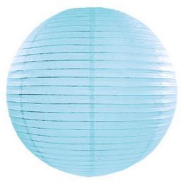Party lampión - guľatý, svetlomodrý, 35 cm