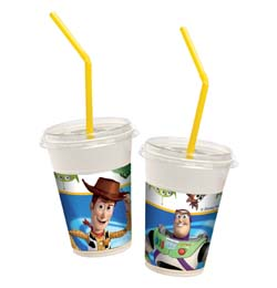 Toy Story party Shaker poháre - 300 ml, 12 ks/bal