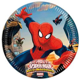 Party taniere Spiderman Ultimate Web Warriors - 19,5 cm , 8 ks