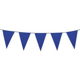 Veľká modrá vlajková girlanda - 10 m