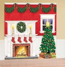 Obrovská vianočná dekorácia na stenu - 6 ks