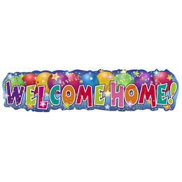 Banner s nápisom Welcome Home! - 90 cm x 22 cm