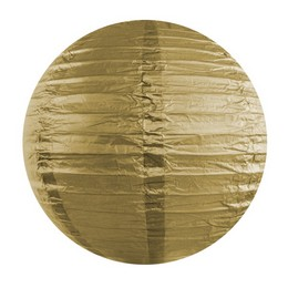 Party lampión - okrúhly, zlatý